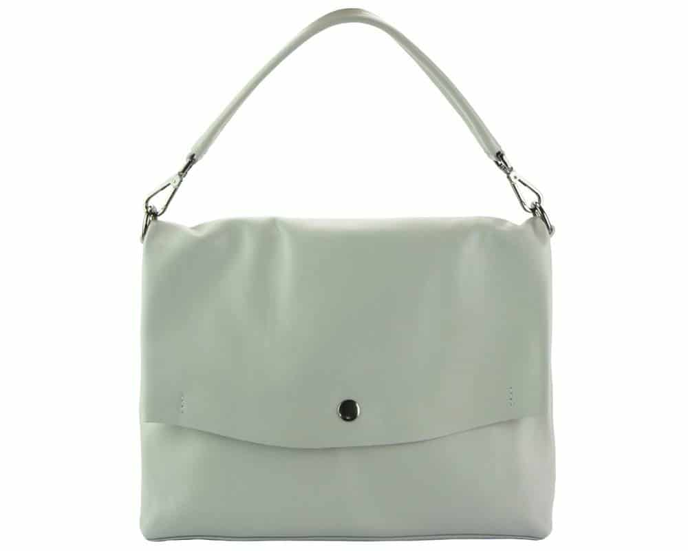 grey purse in natural leather Julieta for women