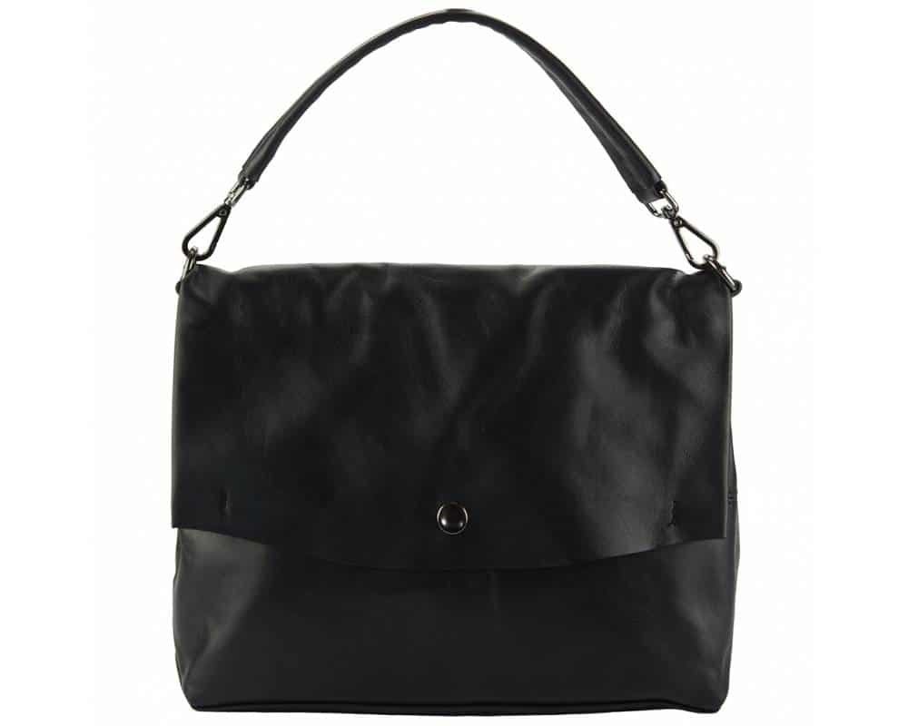 black purse in natural leather Julieta for women