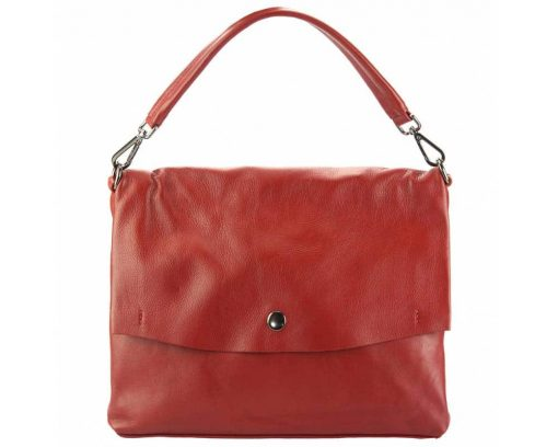 red purse in natural leather Julieta for women