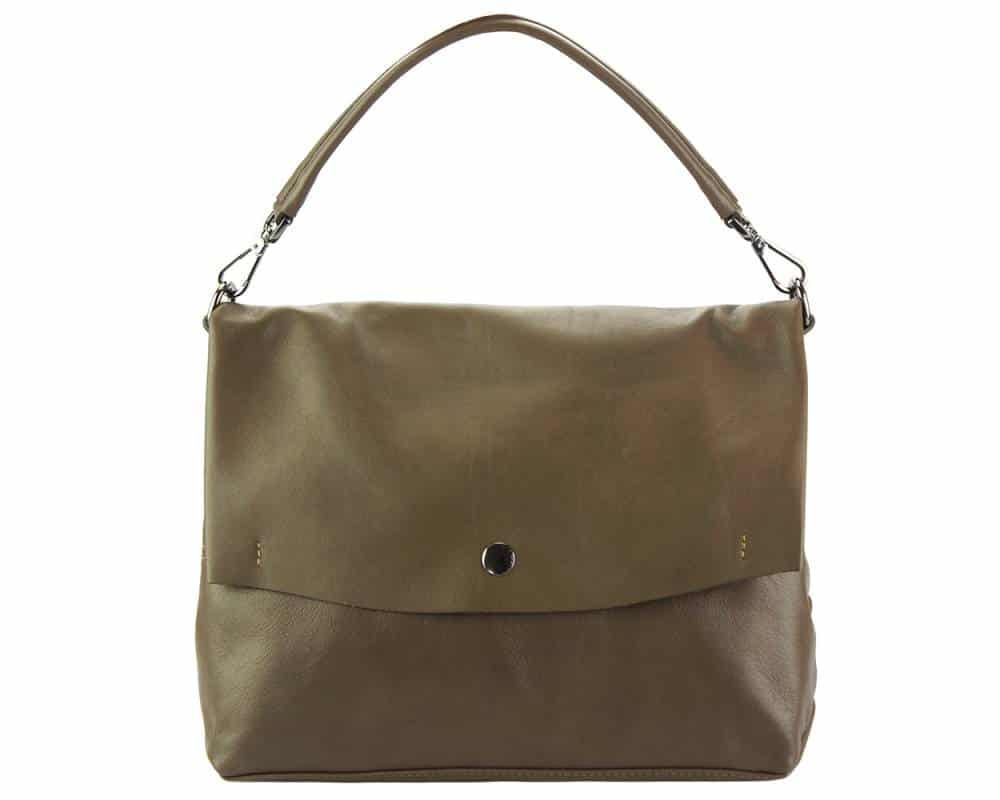 dark taupe purse in natural leather Julieta for women