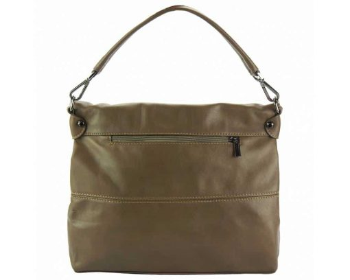 dark taupe purse in genuine leather Julieta for women