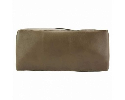 dark taupe purse in leather Julieta for women