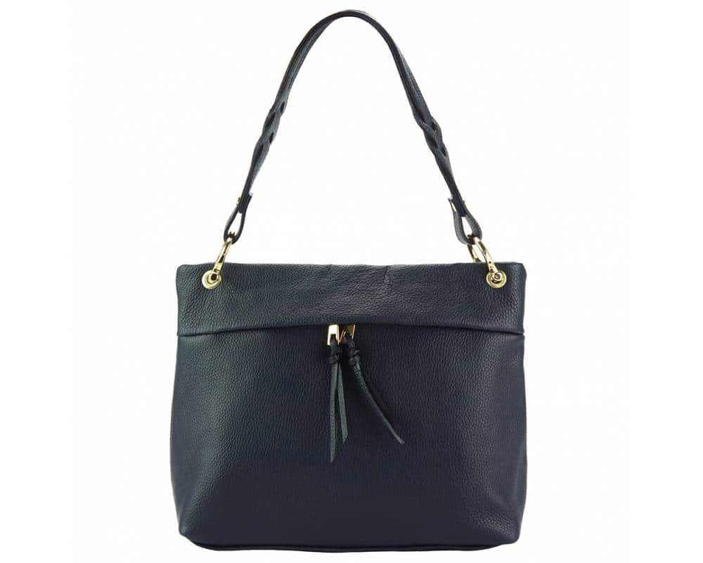 dark blue womans bag in real leather Joita from italy