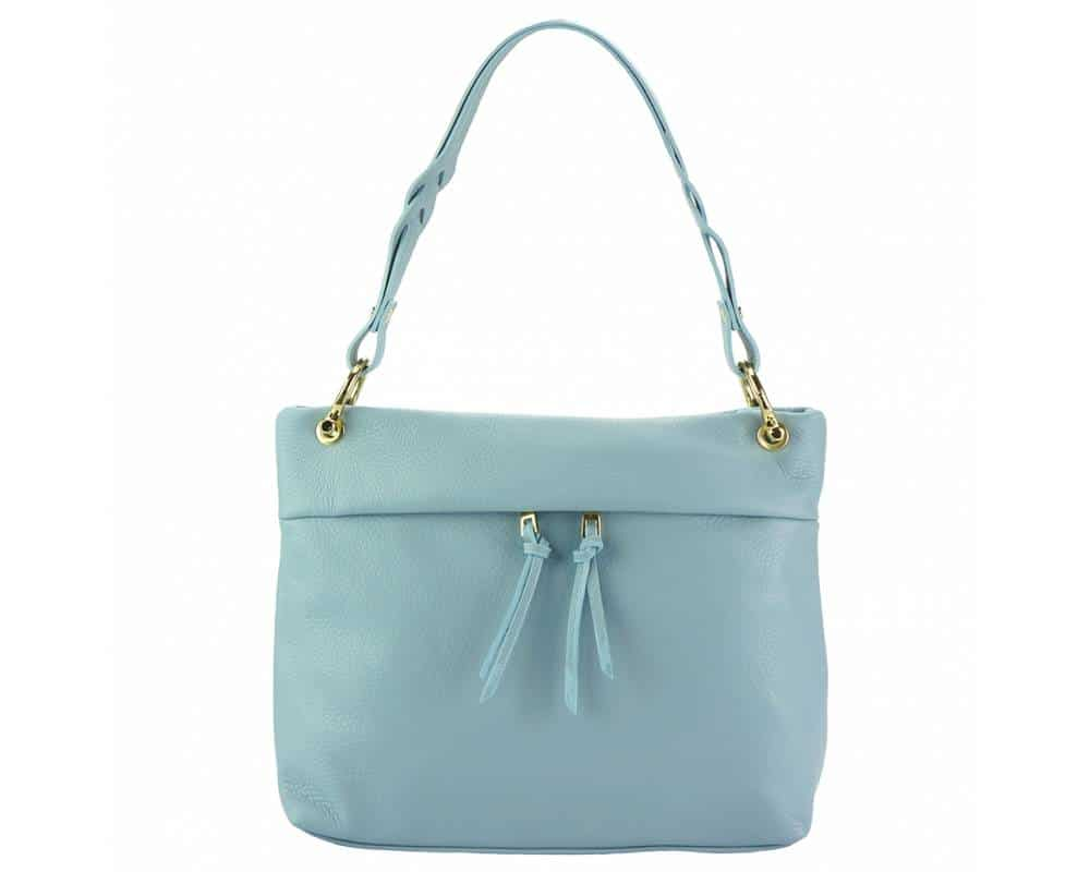 cyan womans bag in real leather Joita from italy