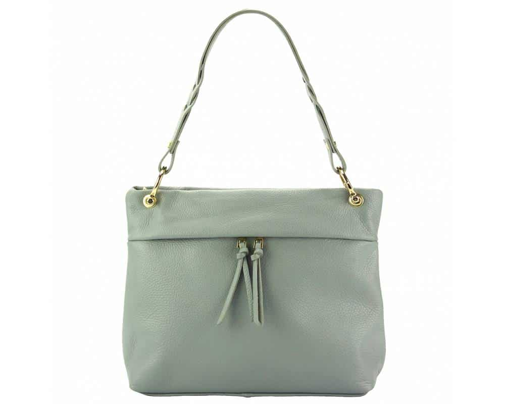grey womans bag in real leather Joita from italy