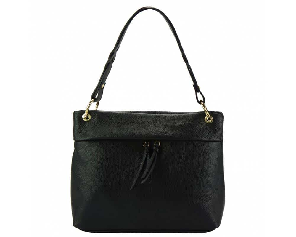 black womans bag in real leather Joita from italy