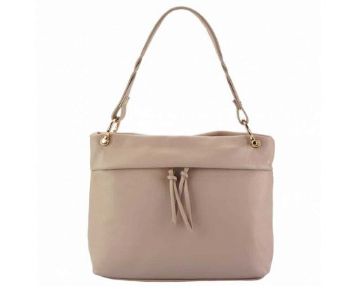 pink womans bag in real leather Joita from italy