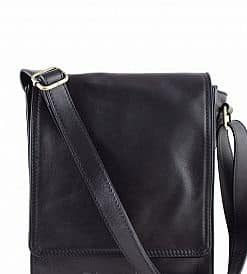 cross body bag Guglielmo from genuine leather colour black for men
