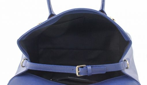 Bag Natalia from genuine leather colour electric blue for women