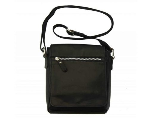 black mans cross body bag in natural leather Julia from italy