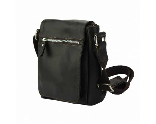 dark womans bag in real leather Joita for men