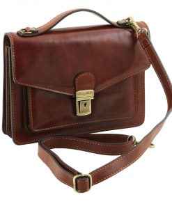 sale buy authentic brown italian bag Nicolao in natural leather Men's