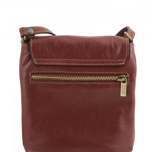brown cross body bag in genuine leather Iorio photo buy from italy for men