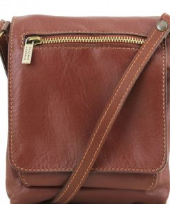 brown cross body bag Iorio man