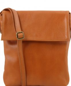 tan cross body bag in genuine leather Iorio photo buy
