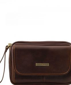 dark brown Men's handbag Onufrio from Italy