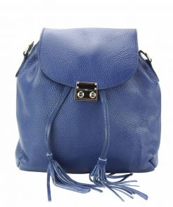dark blue purse in real leather Eufrozina for women