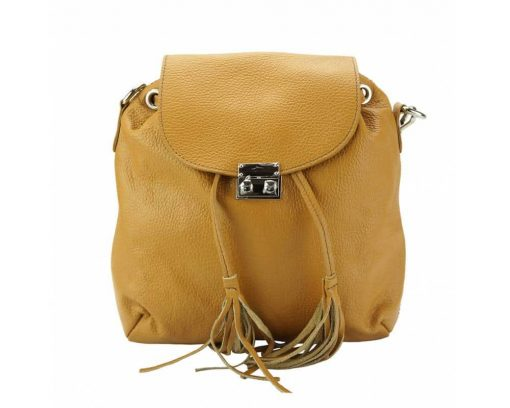 tan purse in real leather Eufrozina for women