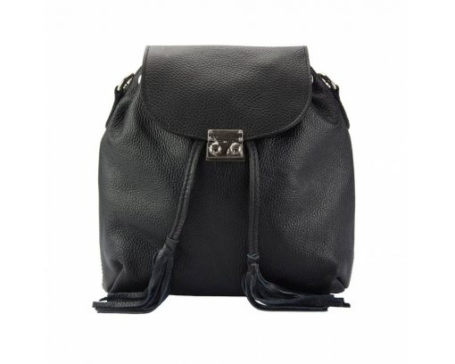 black purse in real leather Eufrozina for women