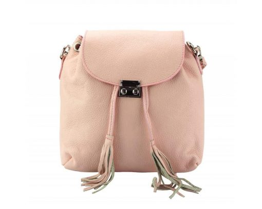 pink purse in real leather Eufrozina for women