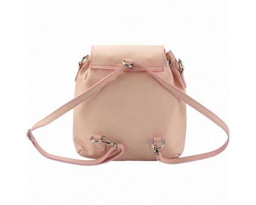 pink color backpack small from italy atanasia in leather