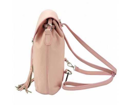 pink backpack small from italy for woman