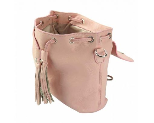 pink backpack small Atanasia for woman