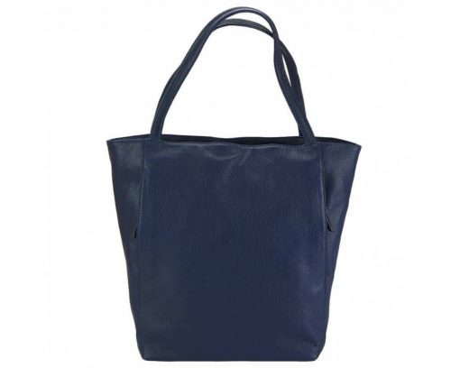 blue bag in soft calfskin for woman from italy