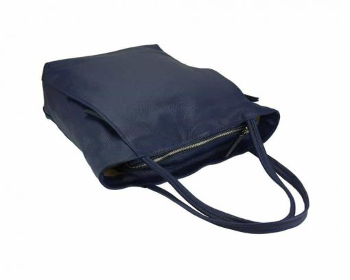 blue bag in soft calfskin leather for woman