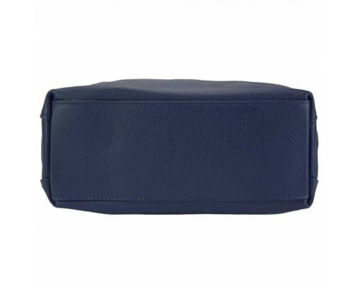 blue bag in calfskin leather from italy