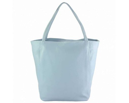 light cyan purse in natural leather Filippa for women