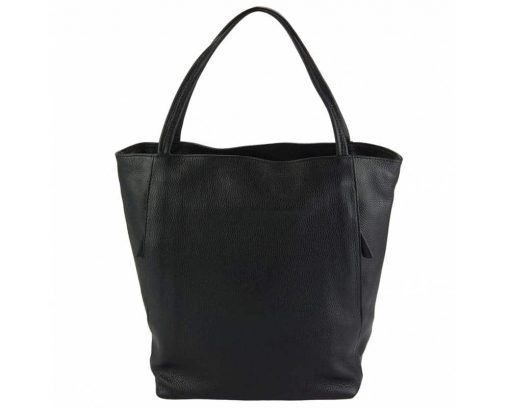 black purse in natural leather Filippa for women