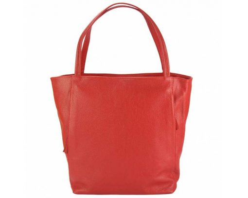 red purse in natural leather Filippa for women