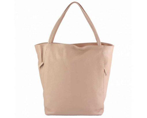 pink purse in natural leather Filippa for women