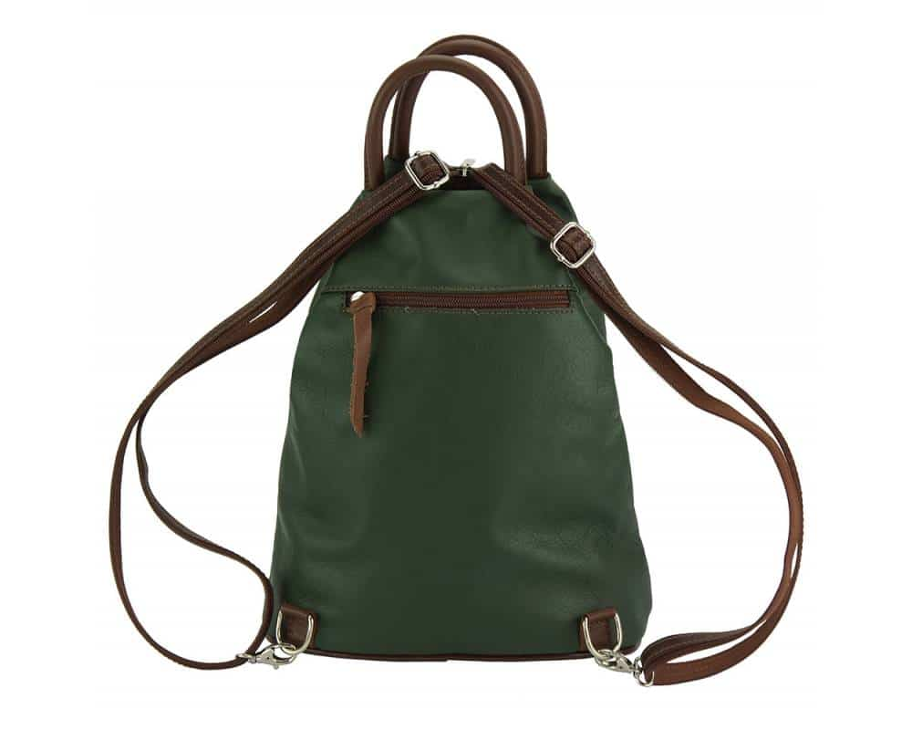 dark green brown backpack Sorina for woman