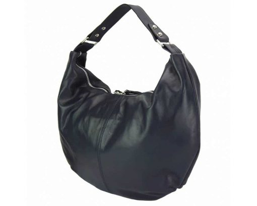 black handbag for woman with soft leather for woman