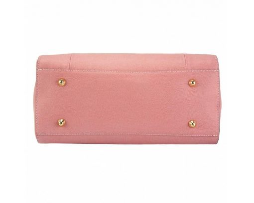 pink handbag for woman small from italy in genuine leather