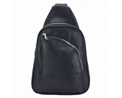 dark blue purse in real leather Chira for women