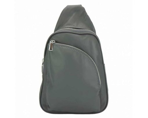 dark grey purse in real leather Chira for women