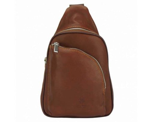 brown purse in real leather Chira for women