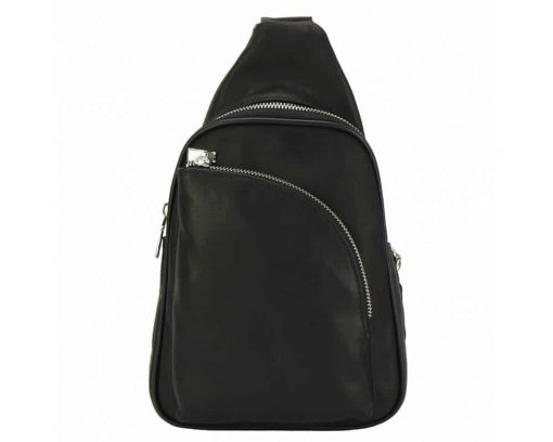 black purse in real leather Chira for women