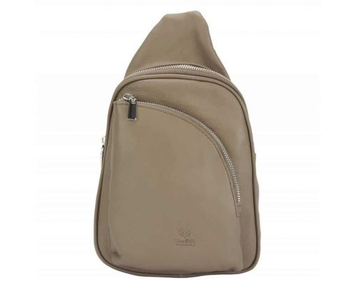 light taupe purse in real leather Chira for women