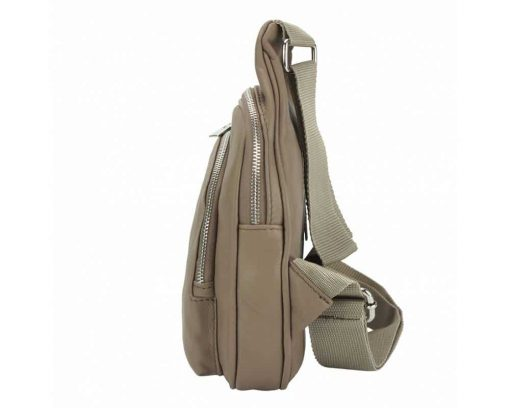 light taupe purse in natural leather Chira for women