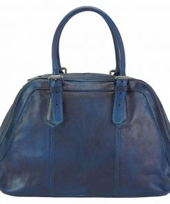 dark blue bag in natural leather Yakira for woman
