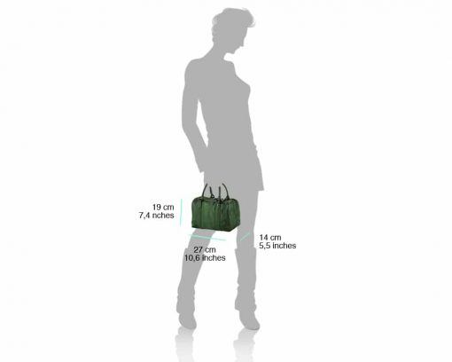green handbag for woman with soft leather for woman