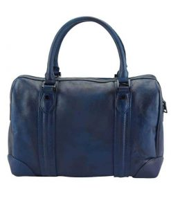 dark blue handbag in genuine leather Livica unisex