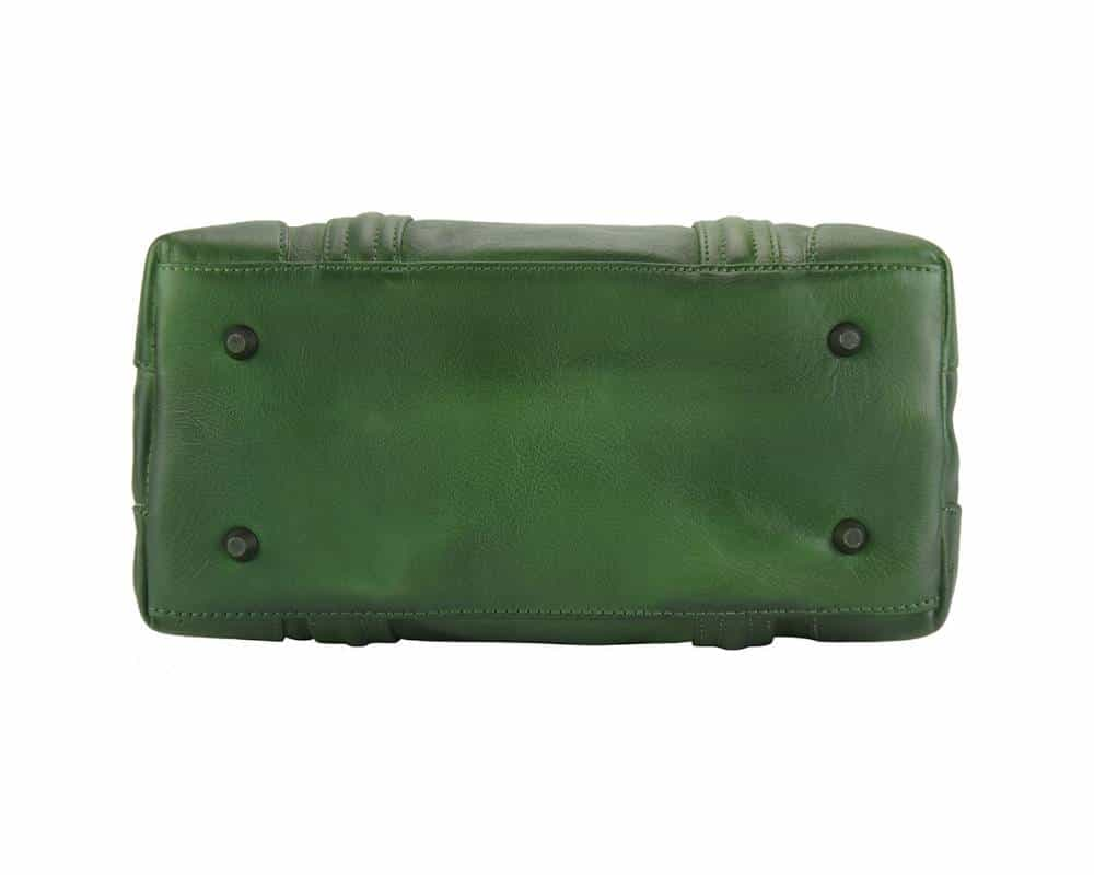 dark green handbag in leatherTaisa for woman