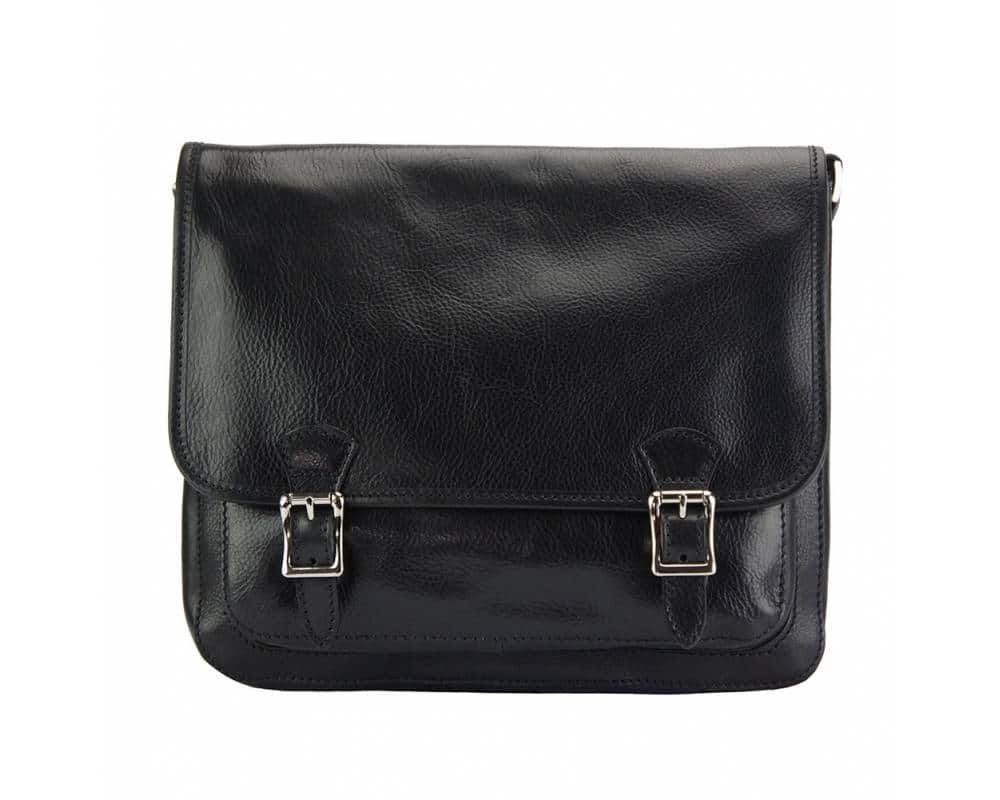 black messenger in leather Tatiana for men