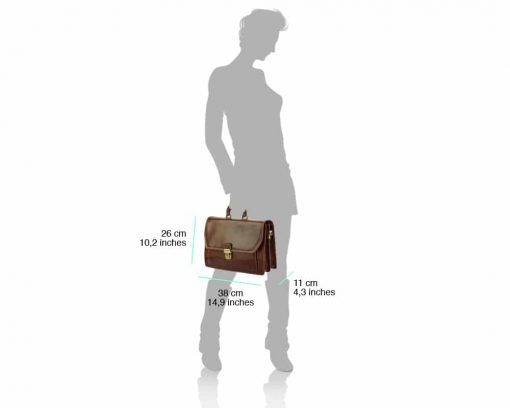 dark brown business bag for man from italy