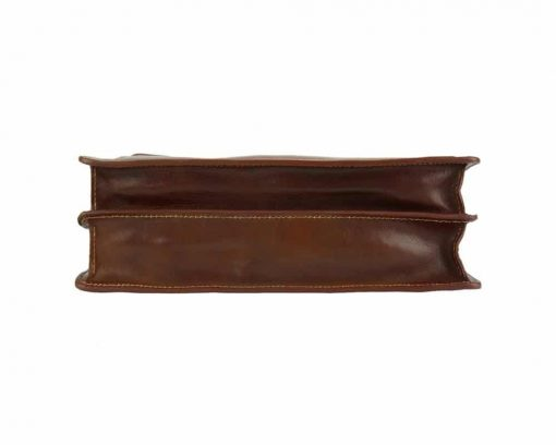 brown briefcase in natural leather Ursula for man